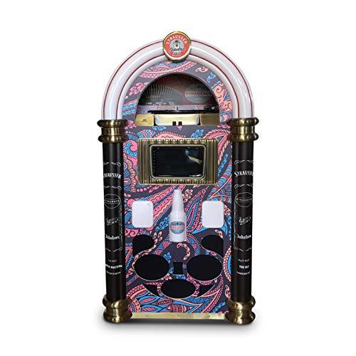 Strausser: Le Juke-Box Le Plus Complet avec Toutes Les fonctionnalités Audio d'aujourd'Hui. (Blue Pink Pattern)