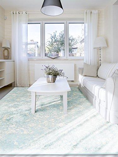 Moderna Alfombra para sal/ón y Dormitorio Benuta Alfombra Postre Azul 120/x 170/cm
