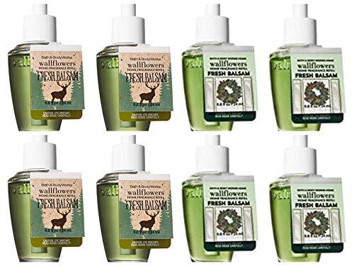Bath & Body Works Fresh Balsam Charts–Acht Refill Leuchtmittel