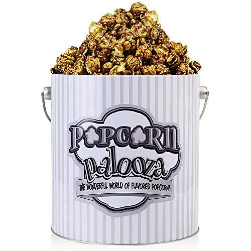 Popcorn Palooza Gourmet Popcorn Tin - 1 Gallon Flavored Popcorn Gift Snack (Caramel Sea Salt)
