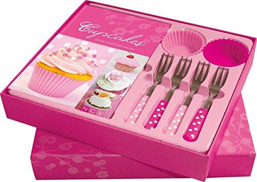 Cupcakes: Süße Verführungen. Buch mit 4 Silikonbackförmchen und 4 Kuchengabeln in Geschenkbox (Buch plus)