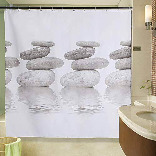 QZZD Polyester Gedruckt Duschvorhang Wasserdicht Badezimmervorhang Individuelle Toilette Vorhang Verdickt,120 * 180cm