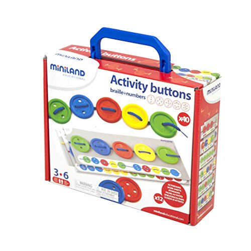 Miniland Activity Button-Botones para Coser, Multicolor (31791)