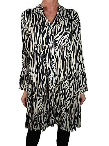 Italy Fashion Boho túnica de manga larga con estampado animal. naturaleza Talla única