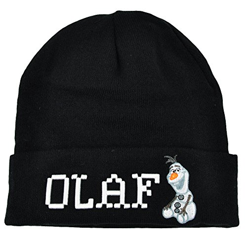 Disney Frozen Olaf Wordmark Pixels Cuffed Beanie Hat