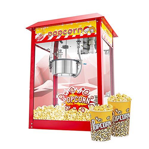 Commerciële Popcornmachine Met Grote Capaciteit Kan 60 Kopjes Maken Met Binnenmaatbekers, Olie Maatlepels En Teflon Niet-klevende Binnenpot 1500w Popcornmaker