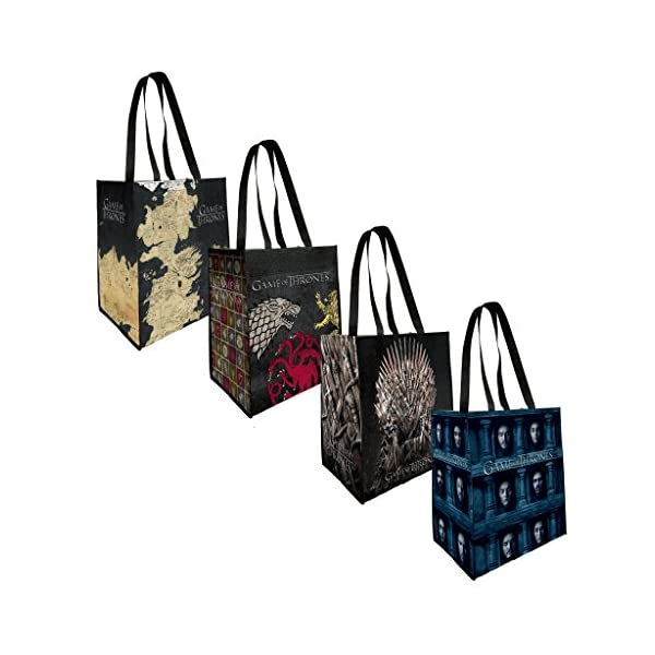 Game of Thrones – Reusable Grocery Tote Bags (4-pack)