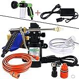 Voiture Rondelle Pistolet Pompe haute pression Aspirateur 12 V car Care Portable machine à laver électrique de nettoyage Auto appareil Outil auto-amorçante(XCH-C03+DY+SQ-02)