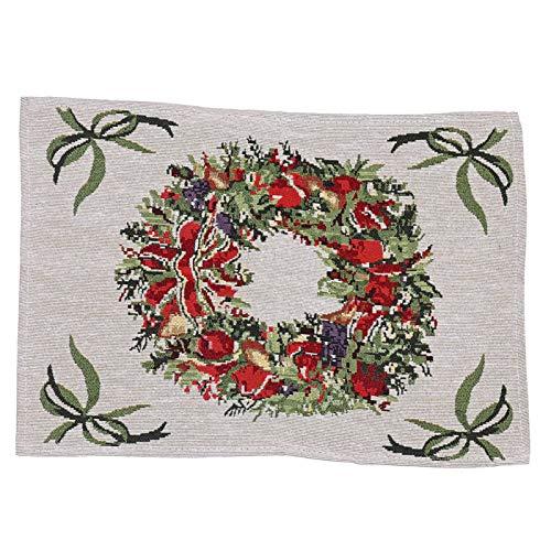 FOReverweihuajz Tela tejida creativa multicolor mantel mantel decoraciones de Navidad guirnalda