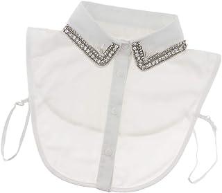 Zonfer Perlas de imitación Falso collar falso collares mitad