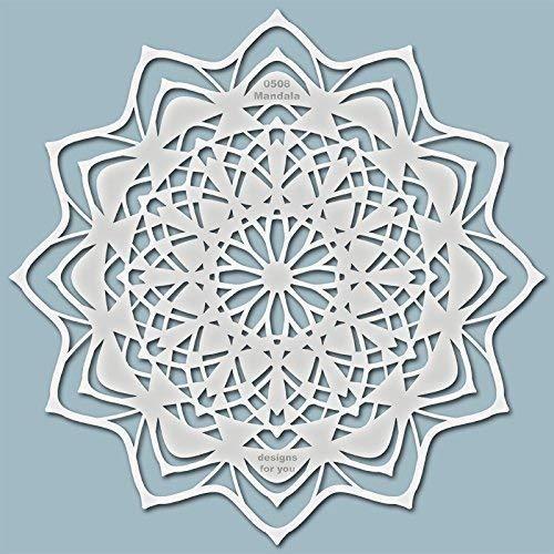 Schablone – Mandala, 0508, Wandschablone, Malerschablone, Textilgestaltung, Silhouette