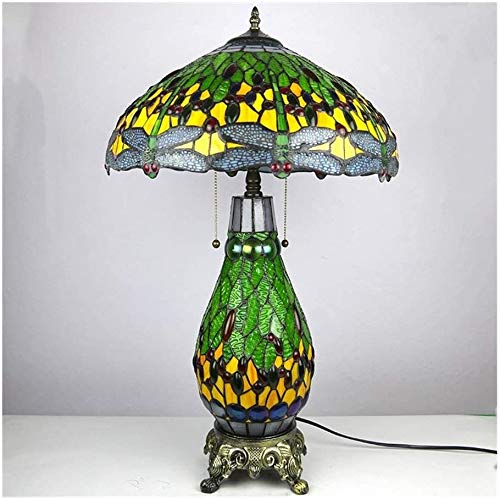 MISLD Lámpara De Mesa Tiffany Lighting Europa Lámpara De Noche Fabricantes Escritorio Hoteles Cálida Lámpara Retro De