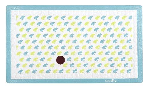 Babymoov A020205 - Alfombrilla antideslizante para baño con termómetro, diseño de rana, color aqua