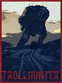 Trollhunter 2010 Movie Art Retro Vintage Painting Car Giant 16x12 Poster Print