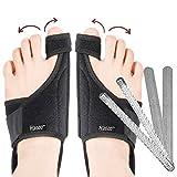 2 in 1 Bunion Corrector | Orthopedic Big Toe Straightener | Bunion Relief | 100% Adjustable Bunion Splint | Strong and Gentle Correction | Original Design (1 Pair Splints)