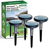 10. Pestless Solar-Powered Pest Repeller - Deterrent for Moles, Gophers, Snakes, Mice - Safe, Humane, Ultrasonic Outdoor Rodent Repellent for Garden, Lawn, Yard (4)