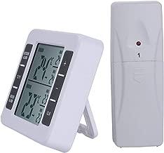 BESTONZON Refrigerator Freezer Wireless Digital Thermometer Indoor Outdoor Temperature Monitor with Wireless Sensor