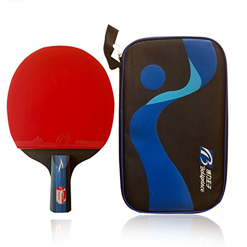 Boliprince Professional Five Plies Carbon Fiber Table Tennis Racket Chinese Ping Pong Paddle(Penhold)