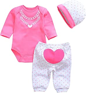 OCSDOLL Reborn Baby Dolls Red Clothes Outfit Newborn Reborn Babies Clothing for 20-22