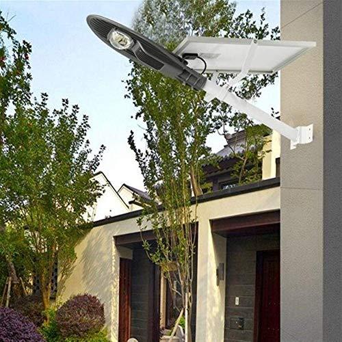 Luces Solares Luz de Pared Solar Al Aire Libre Focos Luces de Jardín Led 18W Energía Solar Sensor Controlado por Luz Lámpara de Farola con Poste Impermeable para Carretera Al Aire Libre, Conservación