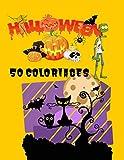 Halloween 50 coloriages: Ce livre contient 50 images à colorier pour enfants sur le thème d\' halloween  grand format 8,5x11 pouces, A4  Parfait pour une idée cadeau