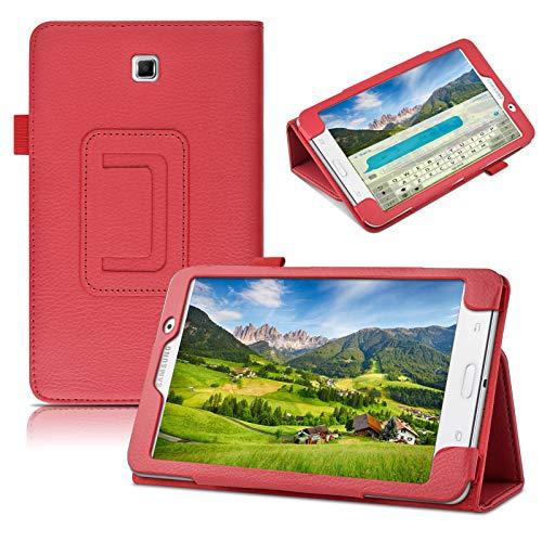 7 inch Samsung Galaxy Tab 4 Case,Samsung Galaxy TAB 4 T230 Case,Beebiz Ultra Slim Lightweight PU Leather Stand Case Cover for Samsung T230 Galaxy Tab 4 7.0 inch Case(Red)