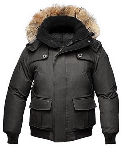 Nobis Cartel Men's Bomber Jacket Daunenjacke Herren Sympatex wasserdicht & warm (Black/schwarz, XL)