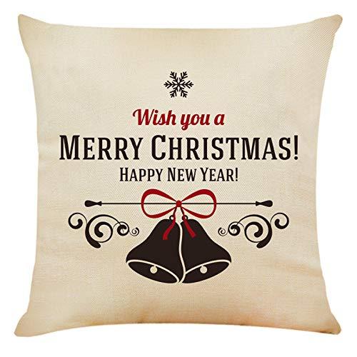 BBQQ - Funda de cojín con diseño navideño para sofá, coche, decoración de Navidad, decoración para el hogar, árbol de Navidad, decoración de Navidad, decoración para el hogar