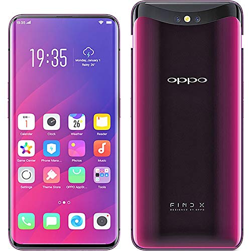 Oppo Find X 8GB+256GB Super VOOC 35minutes Full Charge 6.42 inches Panoramic Arc Screen Sliding Stealth 3D Cameras 25MP 4G Mobile Phone (Red)