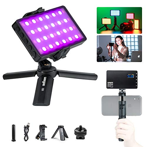 RGB LED Video Light with Portable Tripod Stand, 360