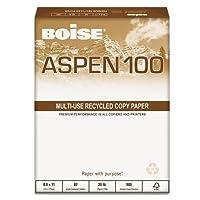 Boise 54922Aspen 100% Recycledオフィス用紙、92明るい、20lb、8–1/ 2x 11、ホワイト、5000/ CT