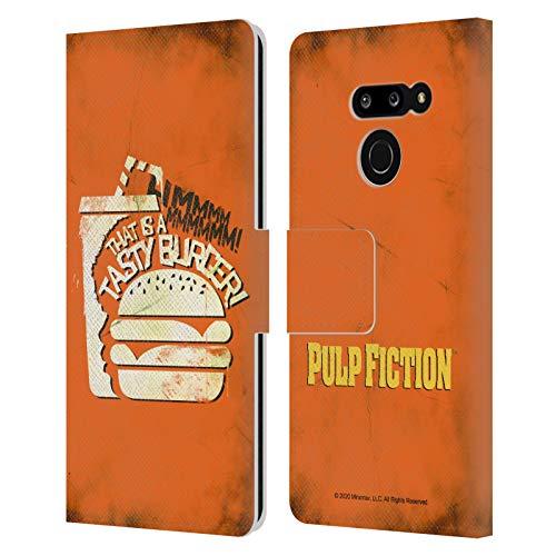 Head Case Designs Licenza Ufficiale Pulp Fiction Tasty Burger Arte Cover in Pelle a Portafoglio Compatibile con LG G8 ThinQ