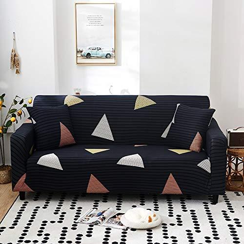 ASCV Fundas de sofá con Estampado de Flores para Sala de Estar Funda elástica elástica Fundas de sofá de Esquina seccionales A4 4 plazas