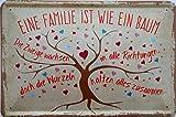 vielesguenstig-2013 Blechschild Schild 20x30cm - Familie ist wie EIN Baum Zweige in alle Richtungen Wurzeln