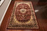 Feraghan/New City Traditional Isfahan Wool Persian Area Rug, 2' x 3', Burgundy/Red