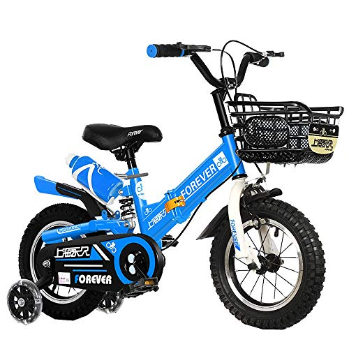 Axdwfd Infantiles Bicicletas Niños Bici 12/14 Pulgadas De Niños Y Niñas De Ciclo, Apto For Niños 2-5years Viejo Rojo, Rosa, Azul (Color : Blue, Size : 12in)