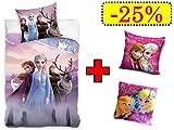 TRENDHAUS Die Eiskönigin 2 Frozen 2 Bettwäsche (1202) Wendebettwäsche Set, 4-teilig, 135 x 200...