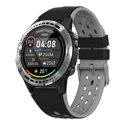 GPS Smartwatch,Reloj Inteligente con Llamada,Pulsómetro,Cronómetros,Monitor de Sueño,música,Podómetro Monitores de Actividad Impermeable IP67 Reloj de Fitness Deportivo Compatible con iOS Android