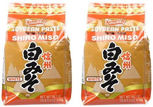 Shirakiku Miso Shiro (white) Soy Bean Paste, 35.27-Ounce Bags (Pack of 2)