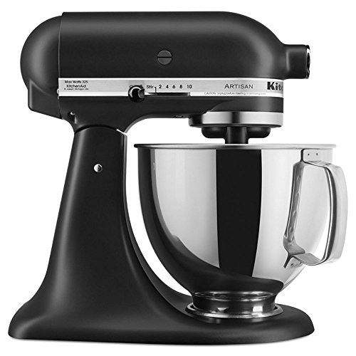 KitchenAid 5-Qt. Tilt-Head Stand Mixer KSM150PSBM Artisan Series, Black Matte