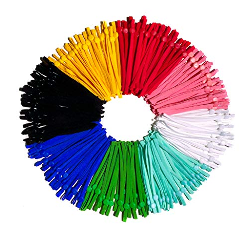 Multicolor 160 Piece Adjustable Earloop Elastic Straps for Mask Making and DIY Sewing Supplies, 5mm Stretch Cord