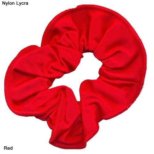 Chouchou pour cheveux en nylon/lycra brillant rouge