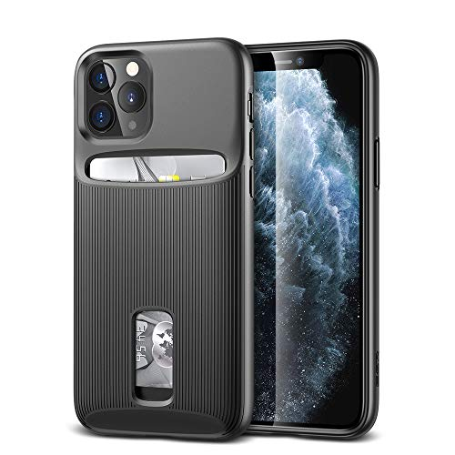 ESR Wallet Case for iPhone 11 Pro Max - Wallet Armor [Slim + Protective] Premium Credit Card Holder for iPhone 11 Pro Max - Black