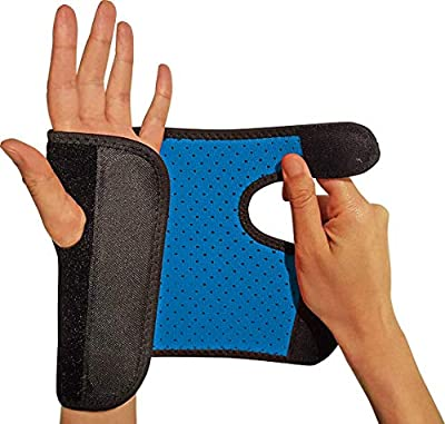 RiptGear Wrist Brace for Women and Men – Adjustable Support with Removable Splint - Wrist Sprains, Carpal Tunnel Syndrome, Tendonitis - Reinforced Construction – Wrist Brace Left Hand (Left)