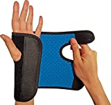 RiptGear Wrist Brace for Women and Men – Adjustable Support with Removable Splint - Wrist Sprains, Carpal Tunnel Syndrome, Tendonitis - Reinforced Construction – Wrist Brace Right Hand (Right)