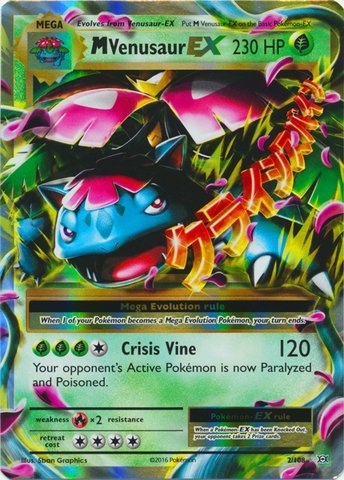 Pokemon - M/Mega Venusaur-EX (2/108) - XY Evolutions - Holo