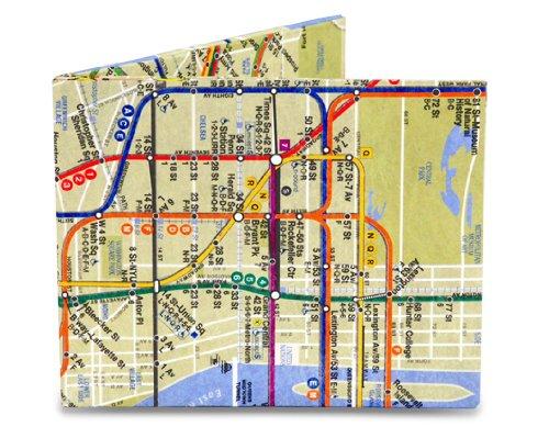 Dynomighty Mighty Cartera NYC para Hombre Mapa de Varias vías Talla única