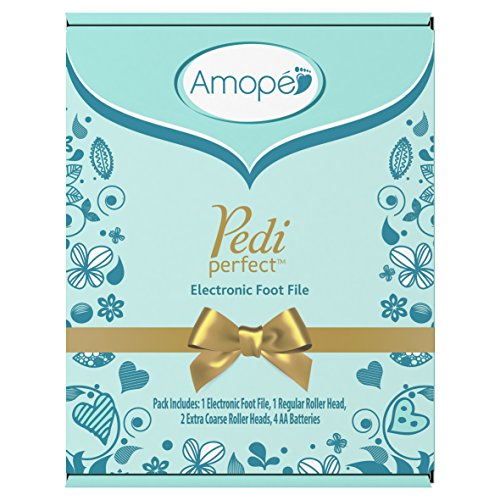 Amope Pedi Perfect Electronic Foot File Value Set1 Amope beauty rollerhead, 2 Amope refills,1 ea&Amope Pedimask Foot Sock Mask,1 Pair 1 ea