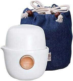 【国内正規品】宜龍 中国茶テイスティングセット(茶壺1+茶杯1)白 1人様用 収納袋付き 化粧箱入