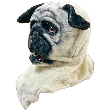 口が連動しリアルに動く!なりきりアニマルムービングマスク!【PugDog/パグ犬】あなたも超ヒューマンな動物キャラに大変身